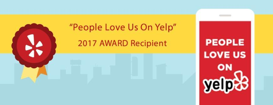 Recipient of 2017 Yelp Award